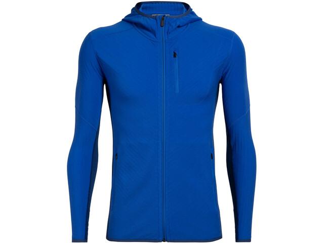 Icebreaker Descender T-shirt manches longues à capuche avec demi-zip Homme, lapis/estate blue
